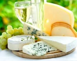 Wine and cheese from the Winelands tour