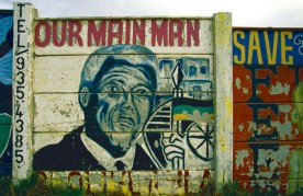 Nelson Mandela painting on Soweto Tour